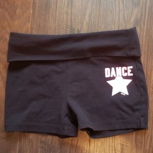 Justice Black and Pink Dance Athletic Shorts